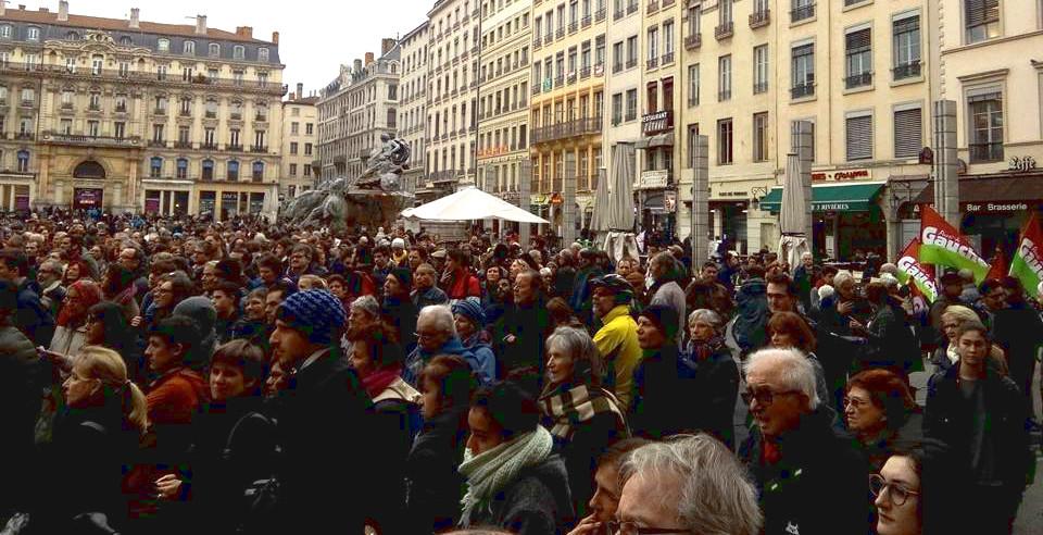 manifestation 30 janvier contre l'état d'urgence à Lyon